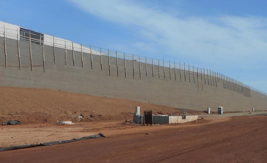 fed ex retaining wall